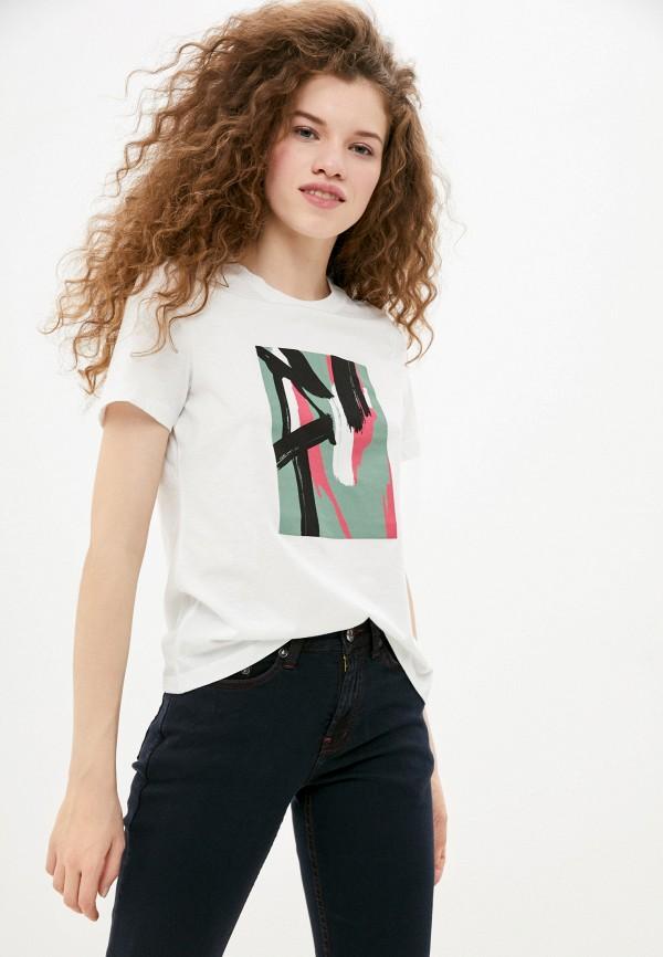 женская футболка vero moda, белая