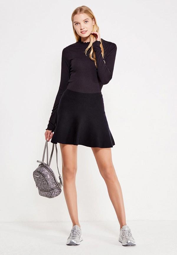 Фото 5 - женскую юбку Vero Moda черного цвета