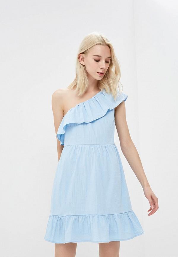 Купить Платье Vero Moda, VE389EWZKT90, голубой, Весна-лето 2018
