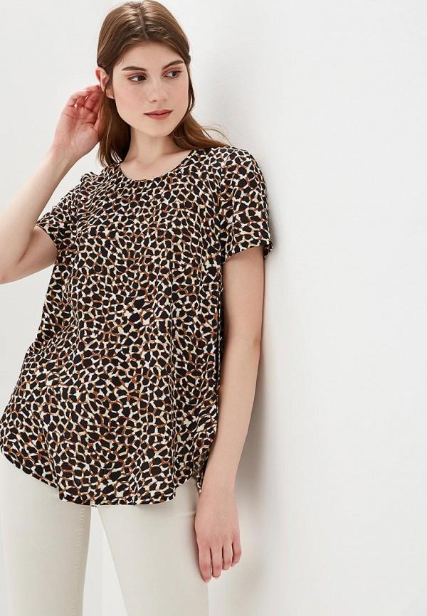 Купить Блуза Vis-a-Vis, vi003ewazyl6, коричневый, Весна-лето 2018