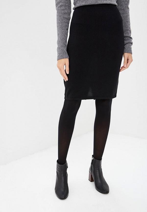 женская прямые юбка vis-a-vis, черная