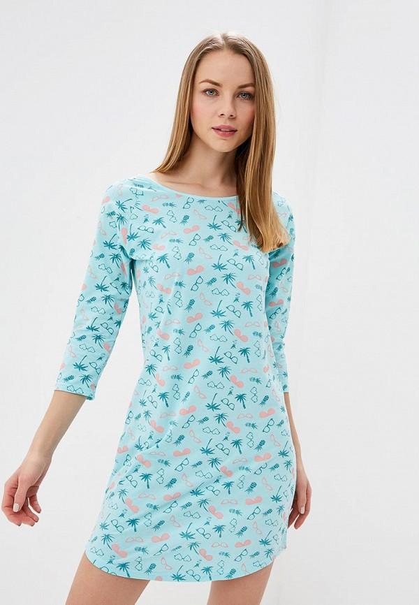 женские сорочка ночная vis-a-vis, бирюзовые
