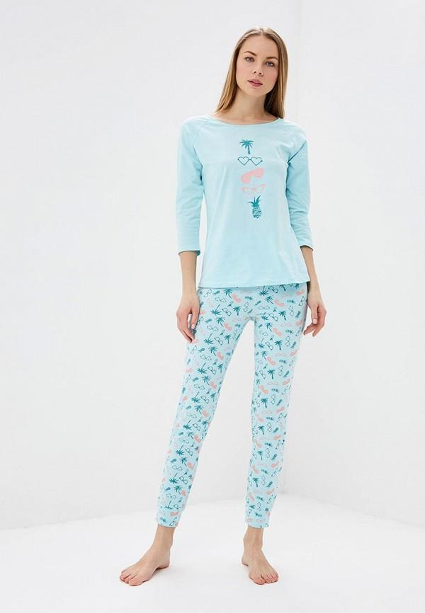 женская пижама vis-a-vis, бирюзовая