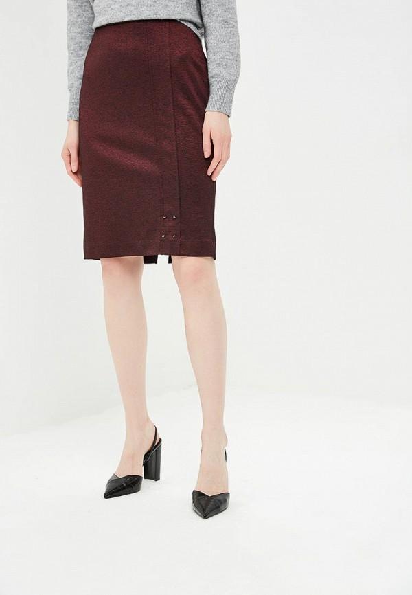 женская прямые юбка vis-a-vis, бордовая