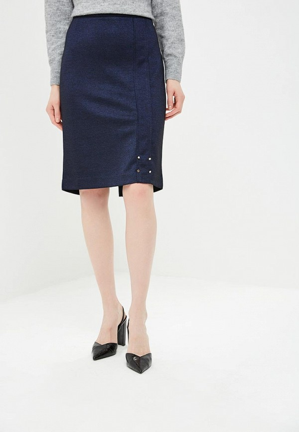женская прямые юбка vis-a-vis, синяя