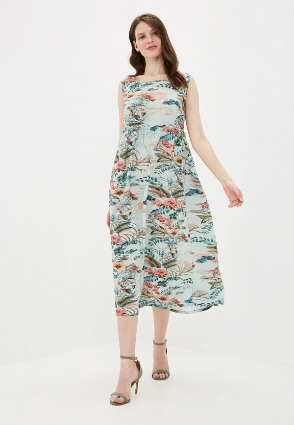 женское повседневные платье vis-a-vis, бирюзовое