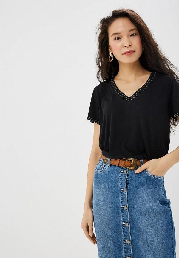 женская футболка vis-a-vis, черная