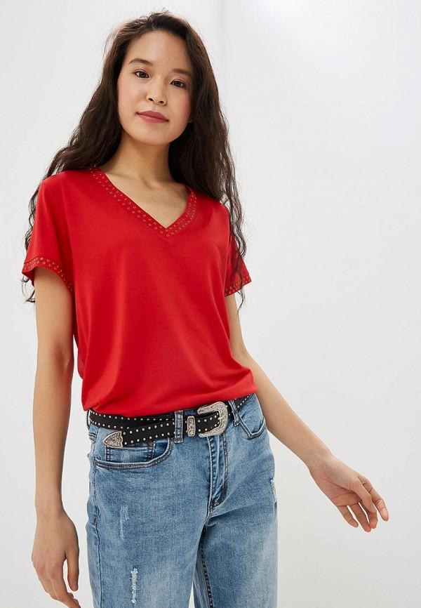 женская футболка vis-a-vis, красная