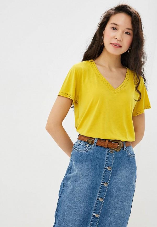 женская футболка vis-a-vis, желтая