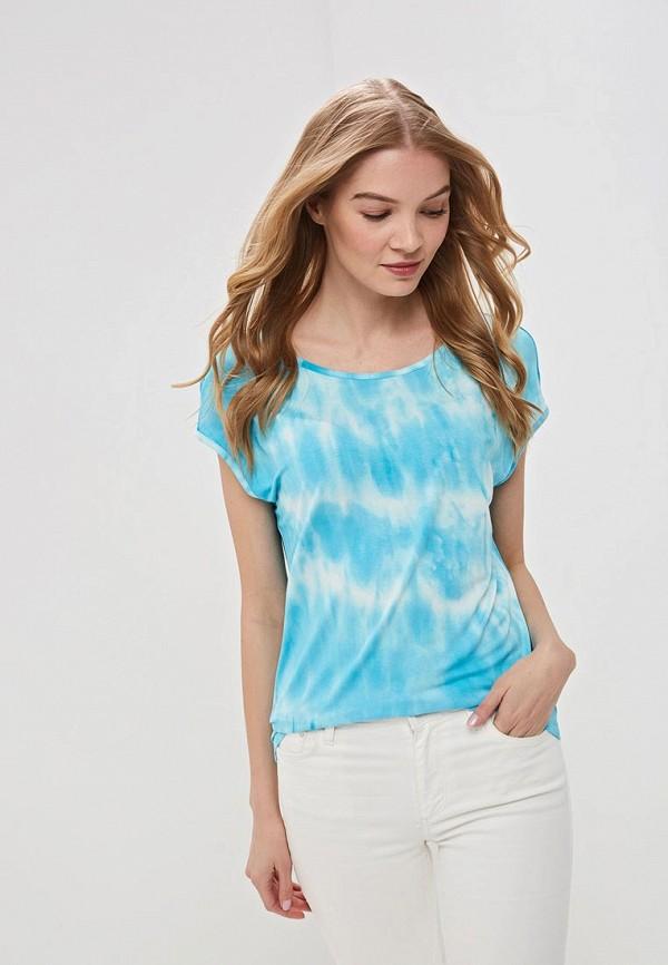 женская футболка vis-a-vis, голубая