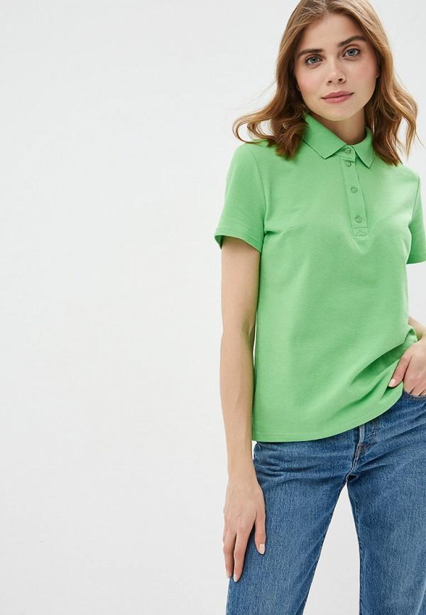 женское поло vis-a-vis, зеленое
