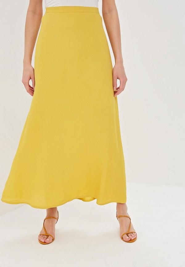 женская прямые юбка vis-a-vis, желтая
