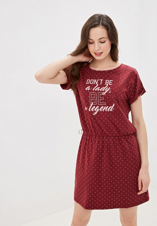 женские сорочка ночная vis-a-vis, бордовые