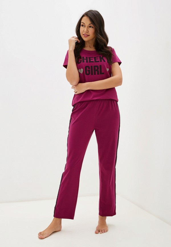 женская пижама vis-a-vis, розовая