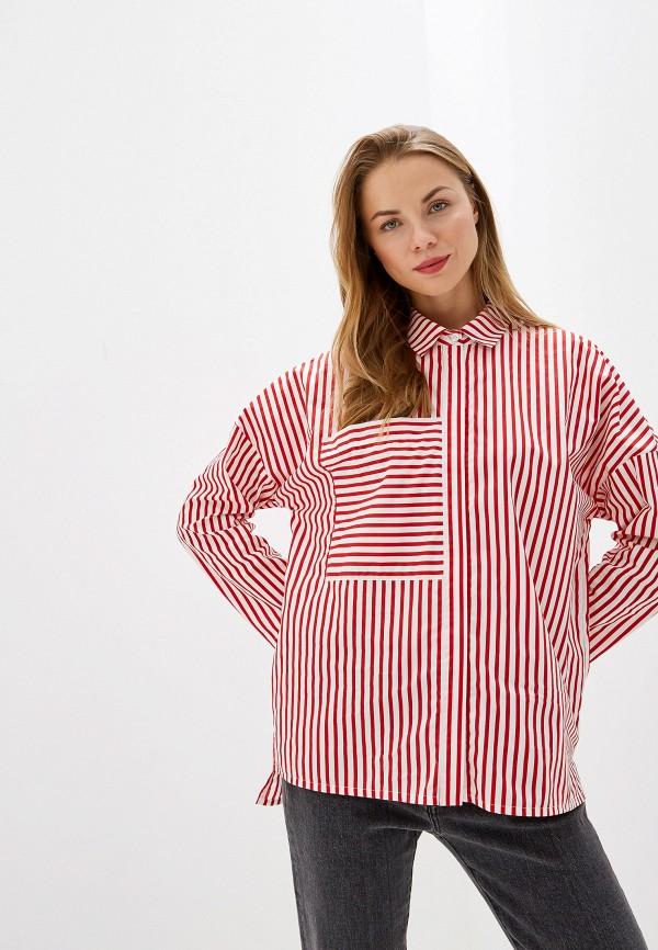 женская рубашка с длинным рукавом vis-a-vis, красная