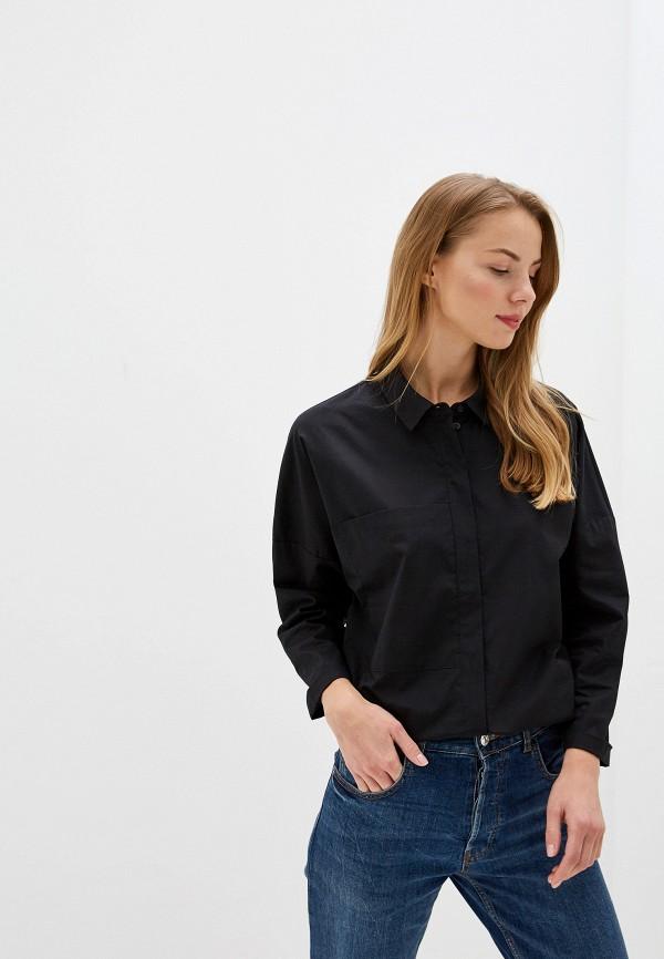 женская рубашка с длинным рукавом vis-a-vis, черная