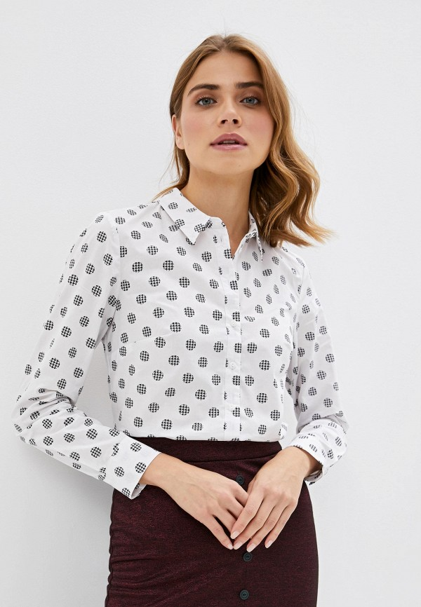 женская рубашка с длинным рукавом vis-a-vis, белая