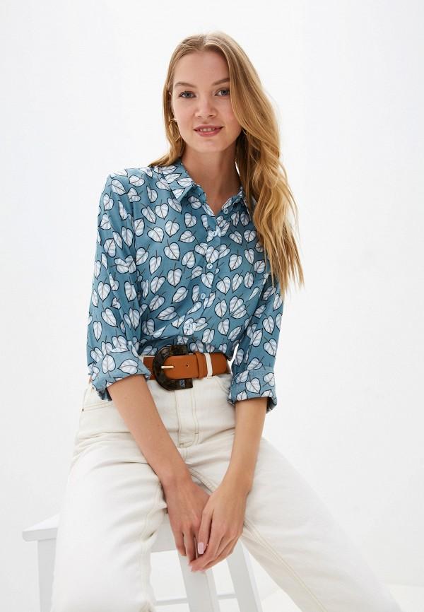 женская блузка vis-a-vis, синяя