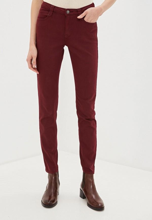 женские повседневные брюки vis-a-vis, бордовые