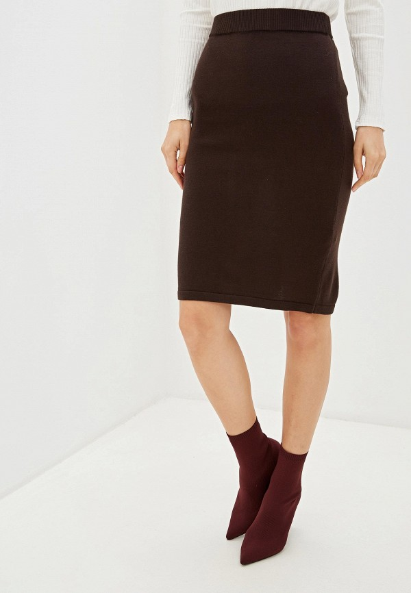 женская прямые юбка vis-a-vis, коричневая