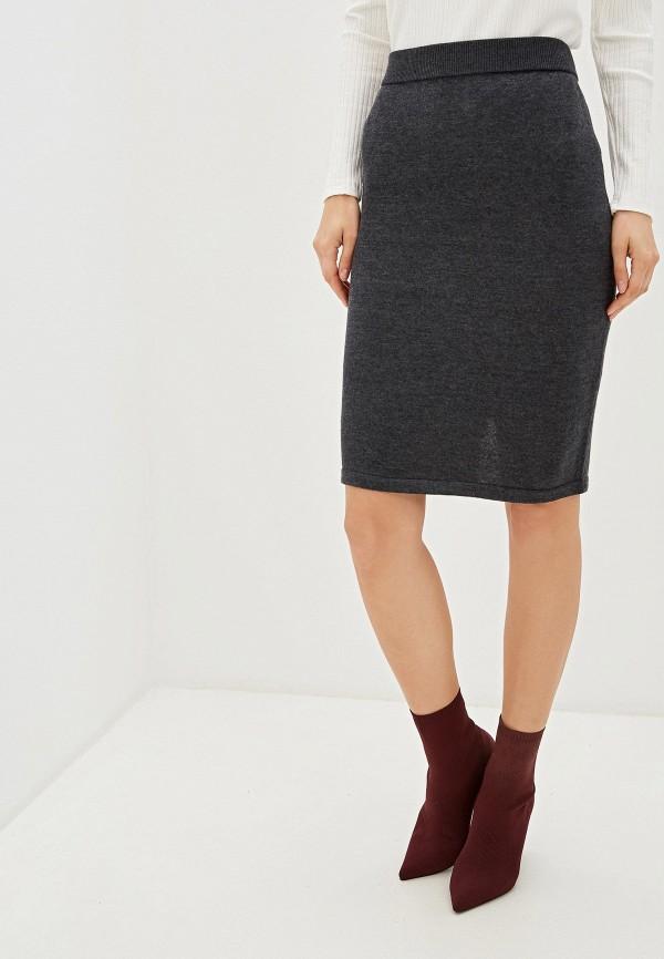 женская прямые юбка vis-a-vis, серая