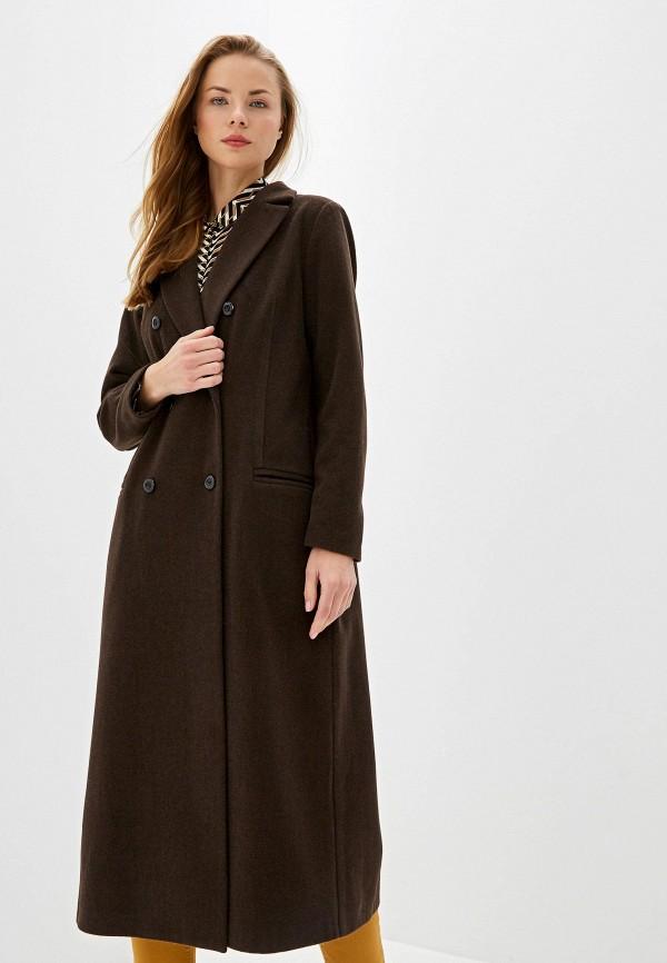 женское пальто vis-a-vis, коричневое