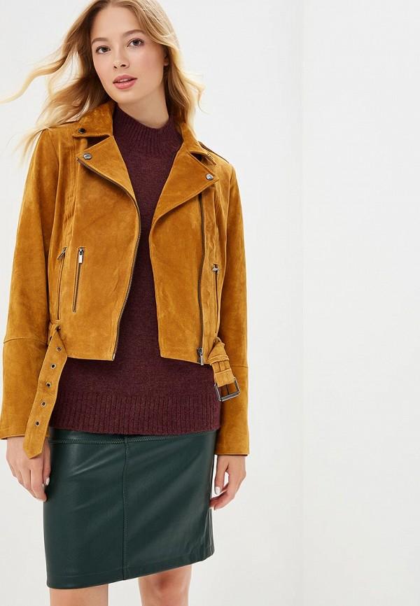 Купить Куртка кожаная Vila, vi004ewbwvq9, коричневый, Осень-зима 2018/2019