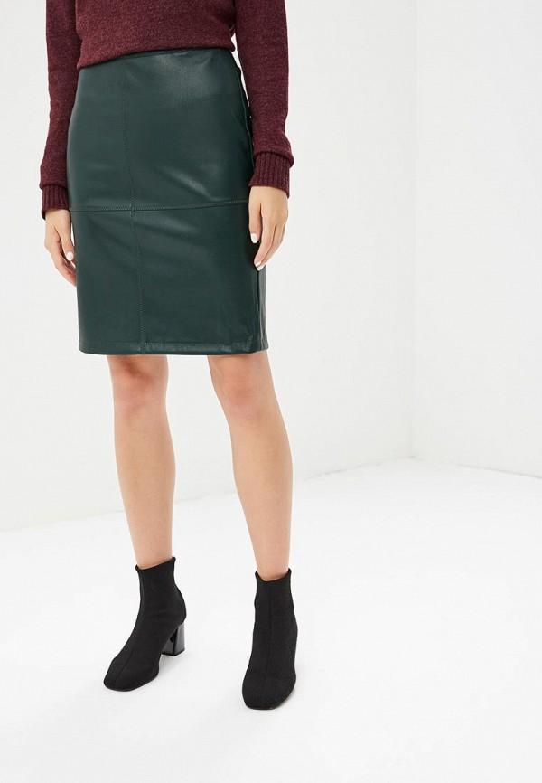женская прямые юбка vila, зеленая