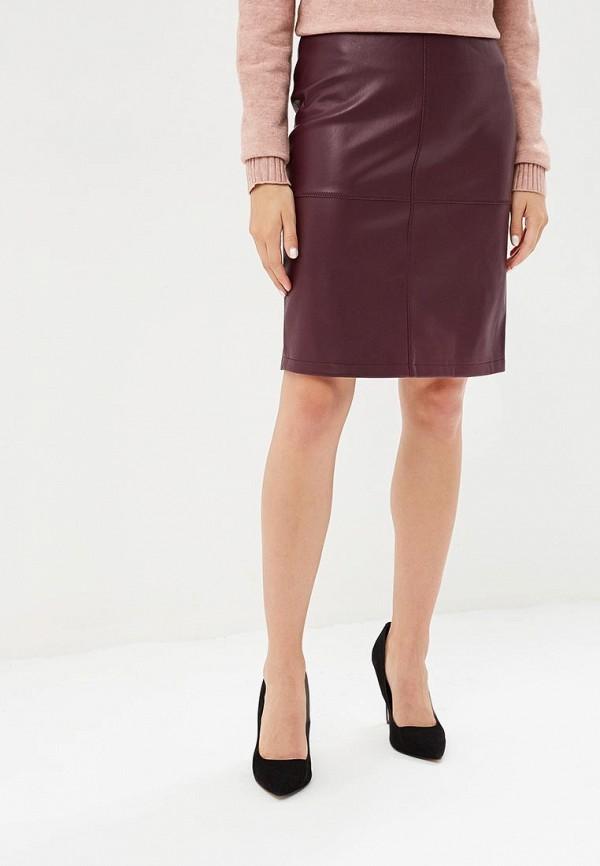 женская прямые юбка vila, бордовая