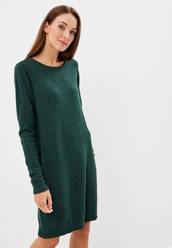 женское платье vila, зеленое