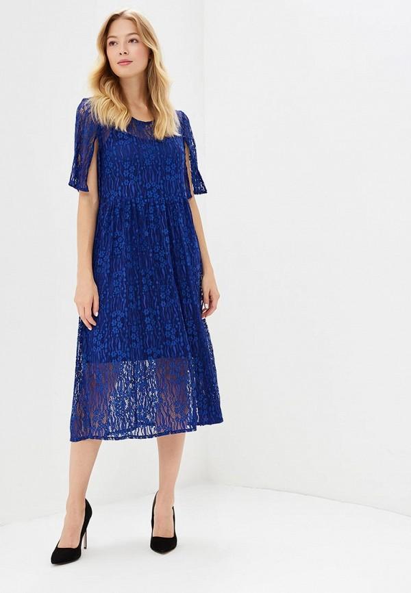 Фото 2 - женское платье Vila синего цвета