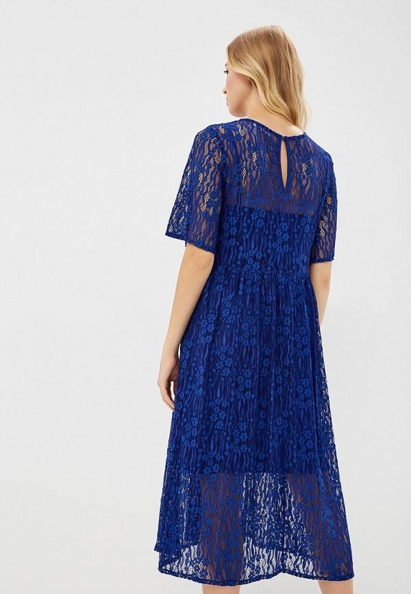 Фото 3 - женское платье Vila синего цвета