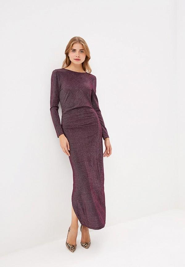 женское вечерние платье vila, фиолетовое