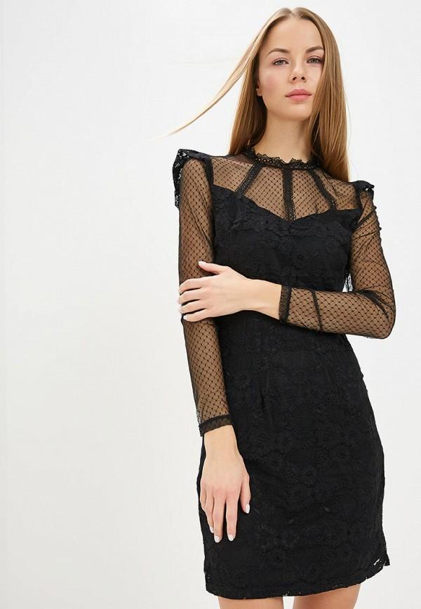 женское вечерние платье vila, черное