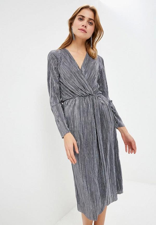 женское вечерние платье vila, серое