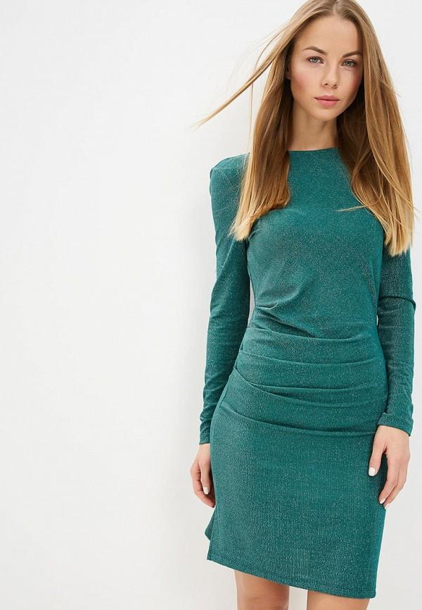 женское вечерние платье vila, зеленое
