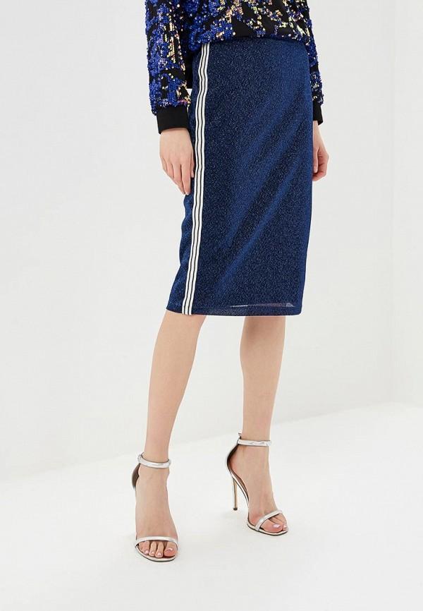 женская прямые юбка vila, синяя