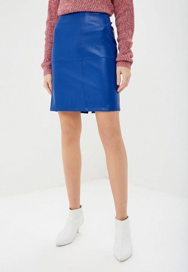 женская юбка vila, синяя