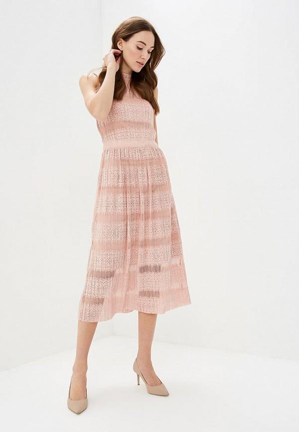 женское повседневные платье vila, розовое