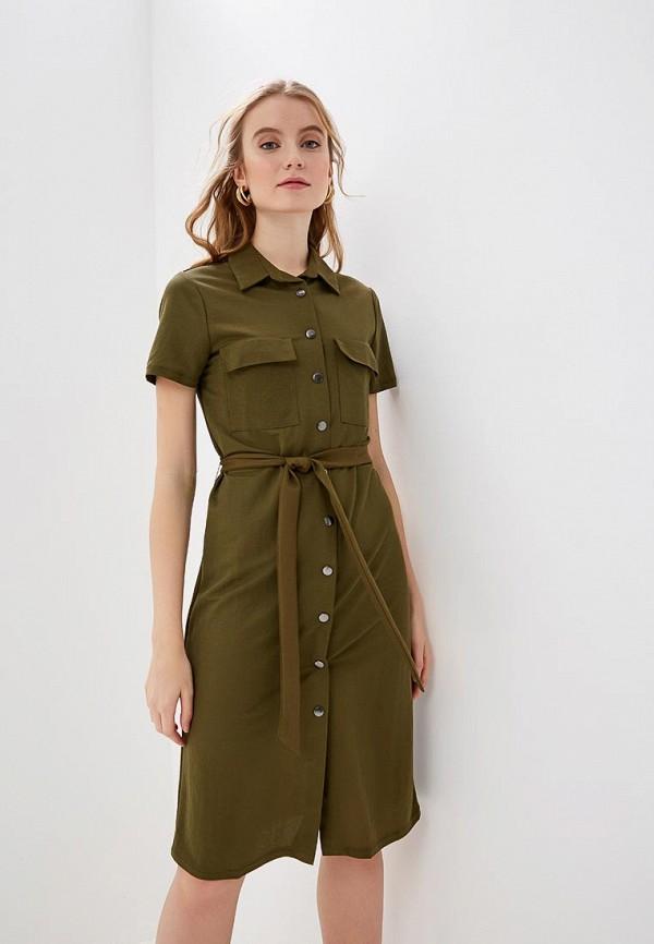 женское повседневные платье vila, хаки