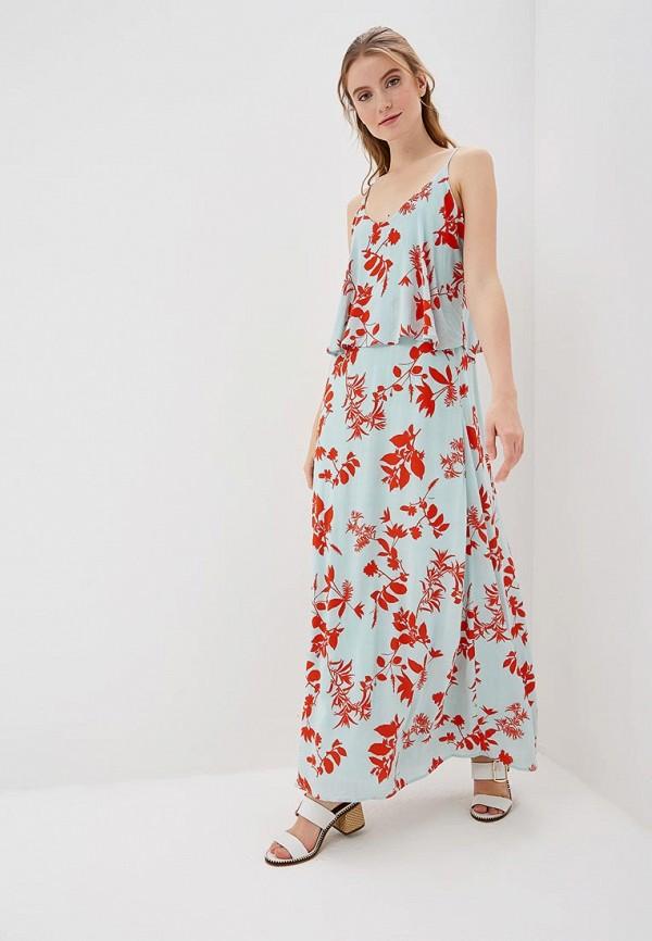женское повседневные платье vila, бирюзовое