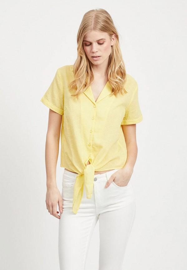 женская блузка vila, желтая