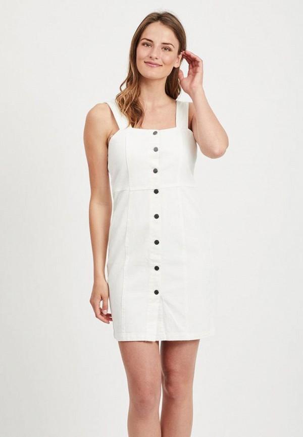 женское джинсовые платье vila, белое