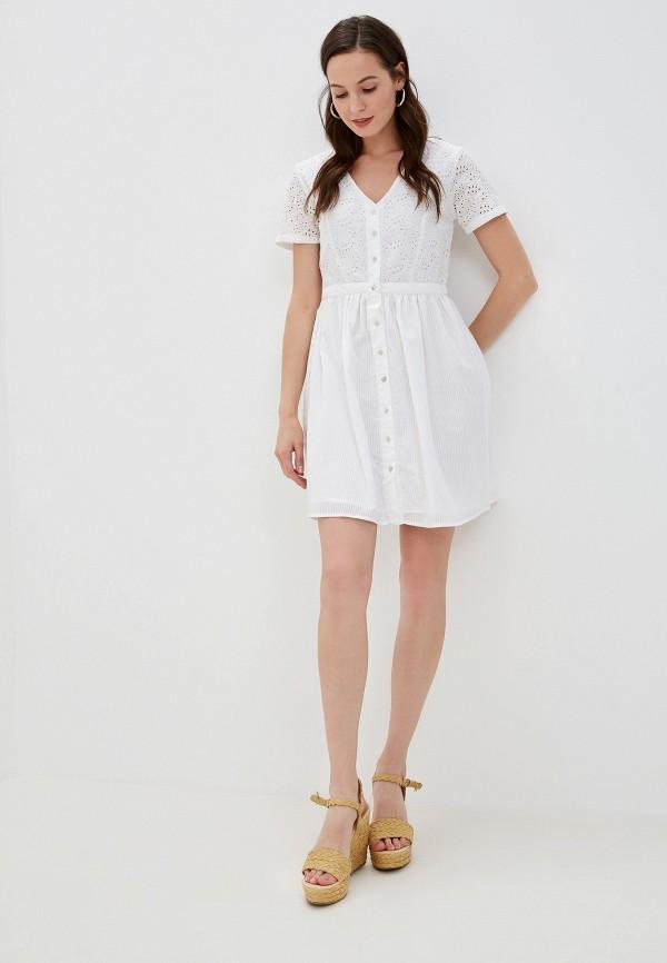 Фото 2 - женское платье Vila белого цвета