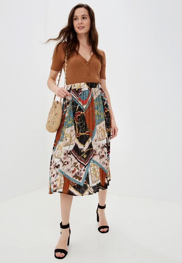 Фото 2 - женскую юбку Vila разноцветного цвета