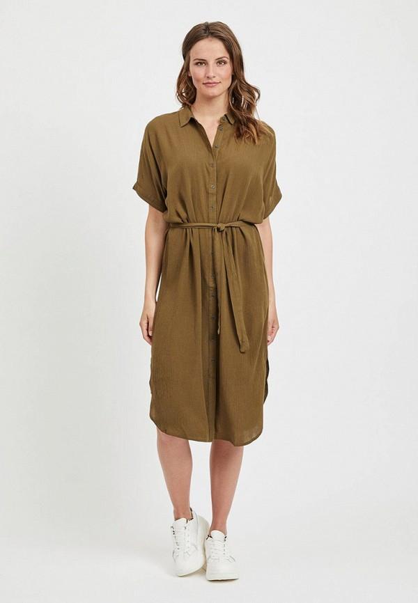 женское платье vila, хаки