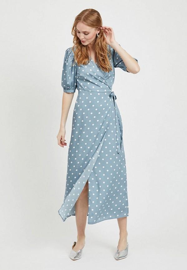 женское платье vila, голубое