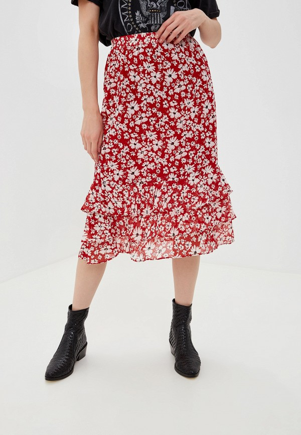 Фото - женскую юбку Vila красного цвета