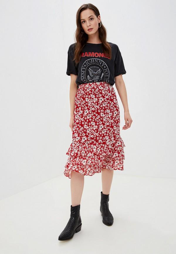 Фото 2 - женскую юбку Vila красного цвета