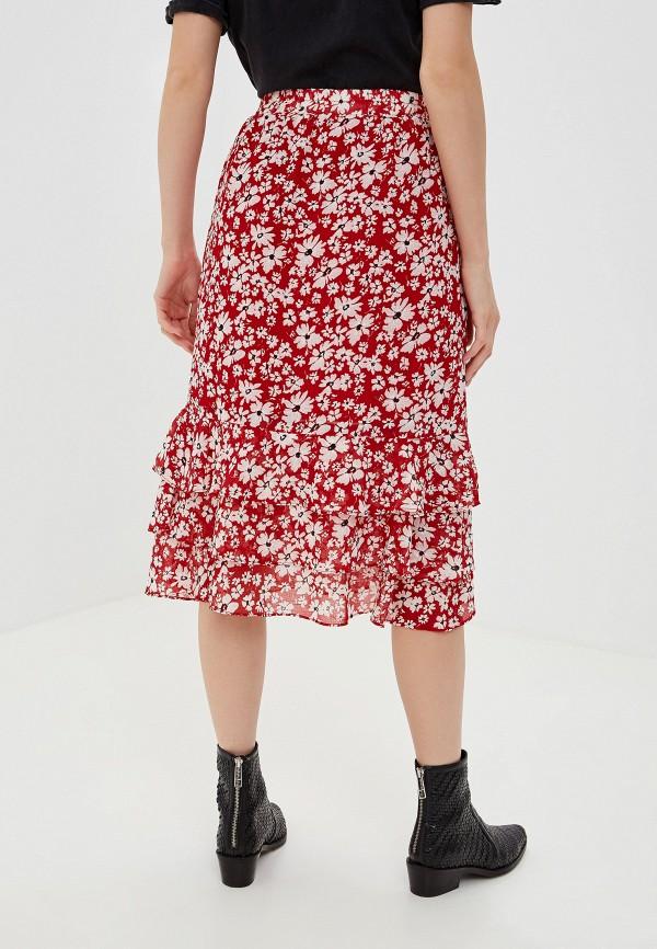 Фото 3 - женскую юбку Vila красного цвета